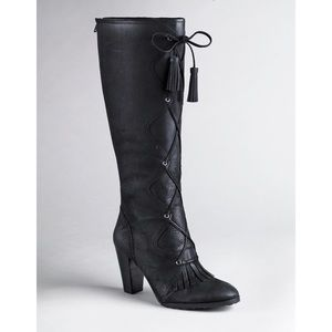 Anthro Tracy Reese Alexia Suede Lace Up Boots